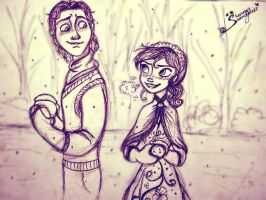 Frozen Hans and Shenny by Shenny-Shendelier