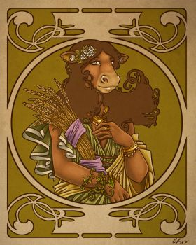 Greek Gods: Demeter Colored by Candy-Janney