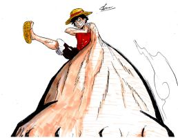 quick luffy gigant pistol colo by Sk8rock69