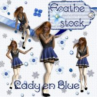 lady en Bleu by Ecathe