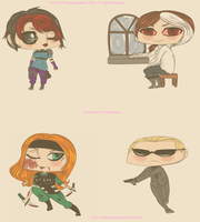 -Point Commission Chibis, for Shakahnna. by Leeleechanlee