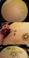 Large Daisy Pentacle Progression by parizadhe