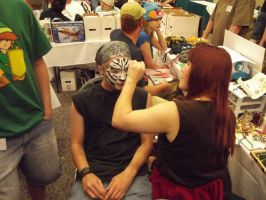 Face painting tiger mask by Midori-Valentine
