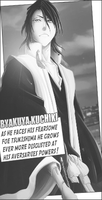 Byakuya Kuchiki Comic Style Tag Black/White by TattyDesigns