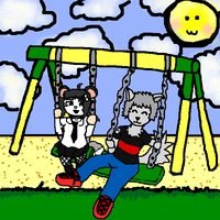 Anthro Playground: Swinging By by PacificIslanderGirl