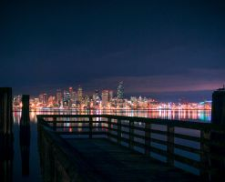 Seattle pier by JayRinehart