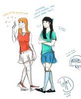 PnF: Candace and Stacy by jam-lk
