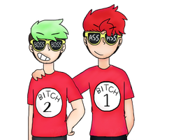 Bitch 1 And 2 | Markiplier and Jacksepticeye by Puppyrelp