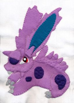 Nidoran Male Felt Patch by pumqin