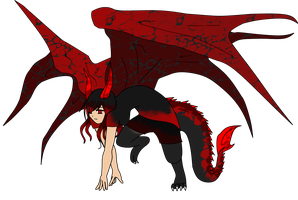 Dragon-hybrid girl AUCTION (CLOSED) by Sanidalee