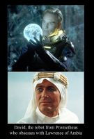 David's obsessed with Lawrence of Arabia! by timbox129