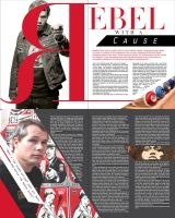Conceptual Rebel With a Cause Article Layout by AngelicaVillegas