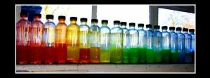 Rainbow bottles by terrorlin