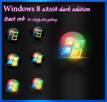 windows 8 aRtist dark edition start orb v1 by swapnil36fg