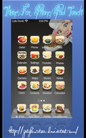 cafe world themes for iphone by yatzkiowtree