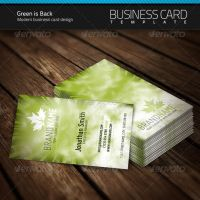 Green is Back Business Card by artnook