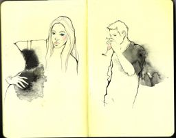 moleskine sketch once again by S-he84