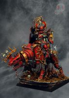 Lord of Khorne on Juggernaut 1 by Eternal2Sleep