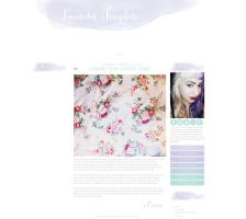Lavender Blogger Template by candypow
