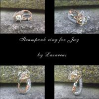 Steampunk ring for Jay by Lazareus