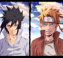 Naruto 693 - Sasuke Vs Naruto ( collab ) by KhalilXPirates