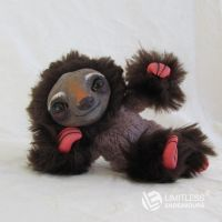Brown Mini Sloth by LimitlessEndeavours