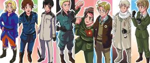 Hetalia Bookmarks by Sho-chan9