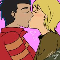 Kiss Kiss by Xing-2-Lee