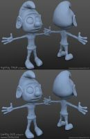 Smurf High-Poly x Low-Poly by iemersonrosa