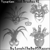 Venetian Mask Brushes II by LoveInTheBedOfRazors
