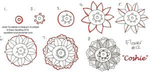 How to draw Paisley Flower 12 Coshie by Quaddles-Roost
