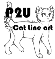 Pay to Use Cat Line Art by catitty