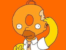 Homer Donut-Head by GreenDayFanGirl