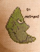 Metapod Cross Stitch by Mickeycricky