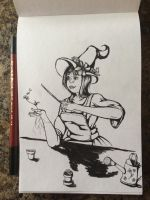 Inktober/ 31Witches Day 4 by Kr3ssidia