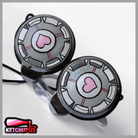 Companion Cube headphones by Ketchupize