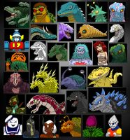 The Kaiju Portraits of Old by Enshohma