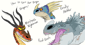 Muro-HTTYD Dragons by CavySpirit
