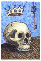 The King is Dead...ACEO by AshleighPopplewell