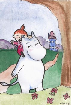 Moomin and little my by Ce-weed