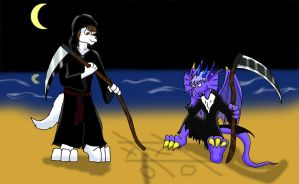 Reapers at the beach by Dragon-Furry