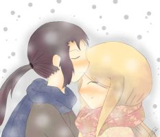 Under the snow  Kouji and Izumi by NyuKamiya