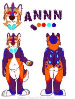 Annn - fursuit plan paper by Grion