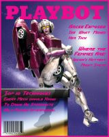Arcee in Playbot Cover 1 by Tramp-Graphics