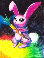 Colored Bunny by Ryvienna