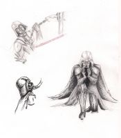 Darth Vader Sketches by great-queen-morrigan