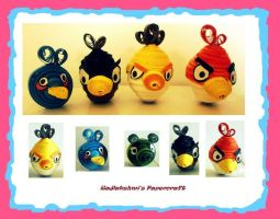 Quilling - Angry Birds by Rajlakshmi