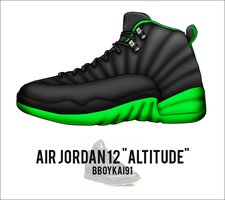 Air Jordan 12 'Altitude' v2 by BBoyKai91