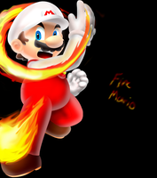 Fire mario.... by Foxeaf