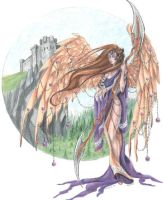 February birthstone angel by JessicaMDouglas